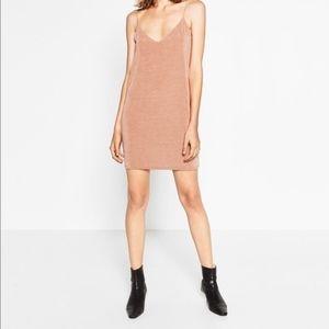 Zara Blush Knit Slip Dress
